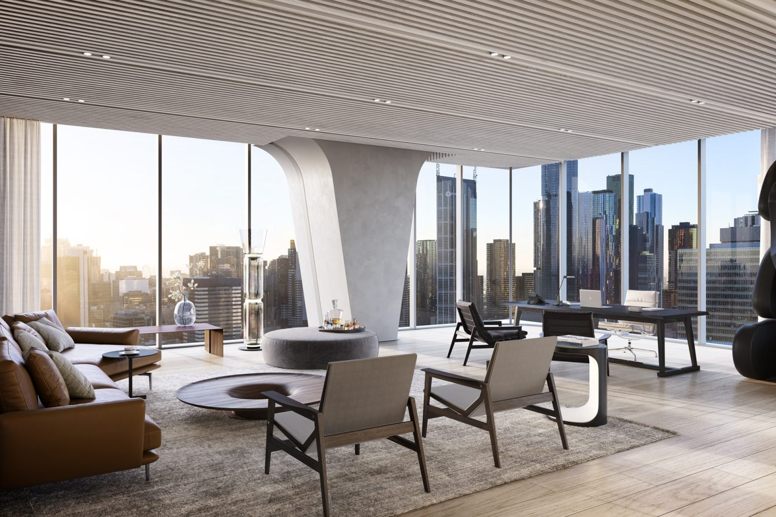 Artist's impression – Custom Executive Office Interior