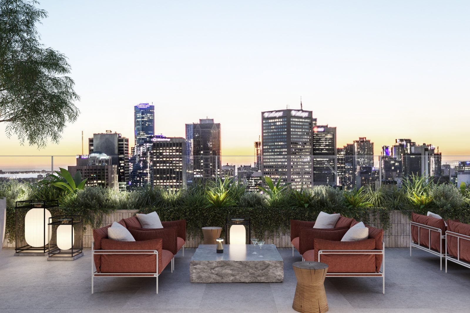 Artist's impression – Rooftop Terrace
