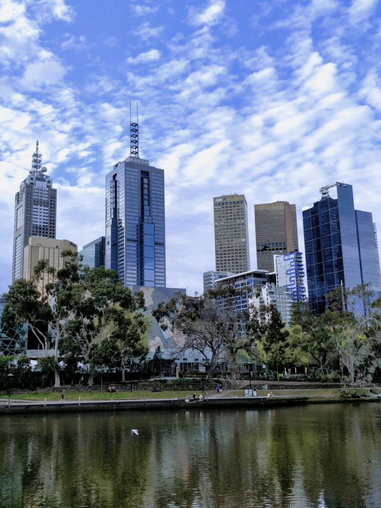 Melbourne's East end from across the Yarra