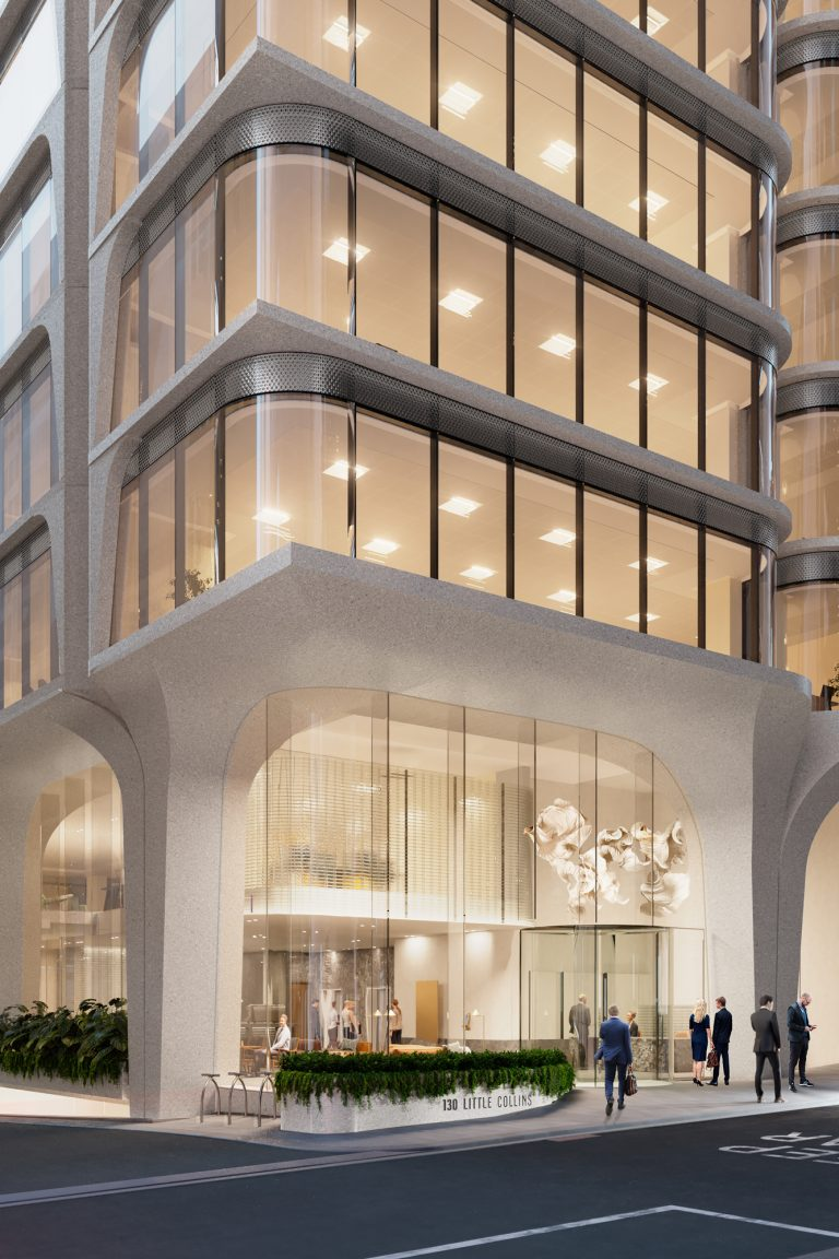 Artist's impression – Entry via Little Collins Street